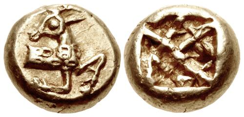 Ionia (?). Electrum Hekte. Phanes. c. 625-600 BCE. Image. CNG.