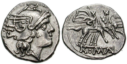 Rome: Republic. After 211 BCE. AR Sestertius. 10mm, 1.02 g, 3h.