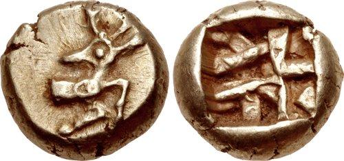 Ionia (?). Electrum Hekte. Phanes. c. 625-600 BCE.