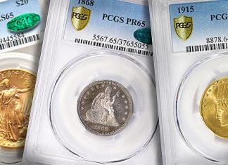 PCGS, NGC, and CAC certified coins
