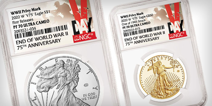 NGC Special Designations, Labels for End of WWII 75th Anniversary Gold, Silver Eagles