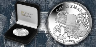 Pobjoy Mint issues new silver coin commemorting the 150th anniversary of the death of Charles Dickens that features his beloved A Christmas Carol