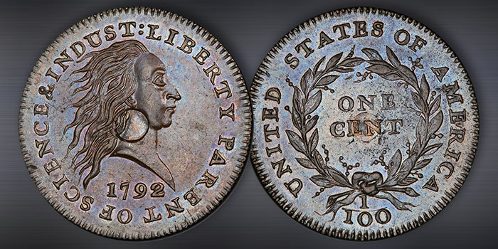 Heritage Offering Finest Known 1792 Silver Center Cent at Jan. 2021 FUN Auction