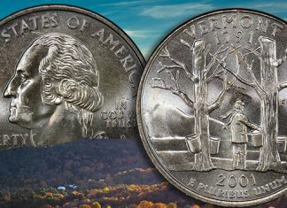 The 2001 Vermont State Quarter