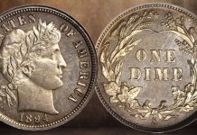 NGC-Certified 1894-S Barber Dime in Stack's Bowers Auction