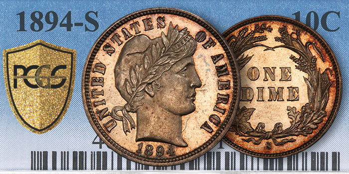 Buyer of Ultra-Rare 1894-S Barber Dime Crosses It to PCGS
