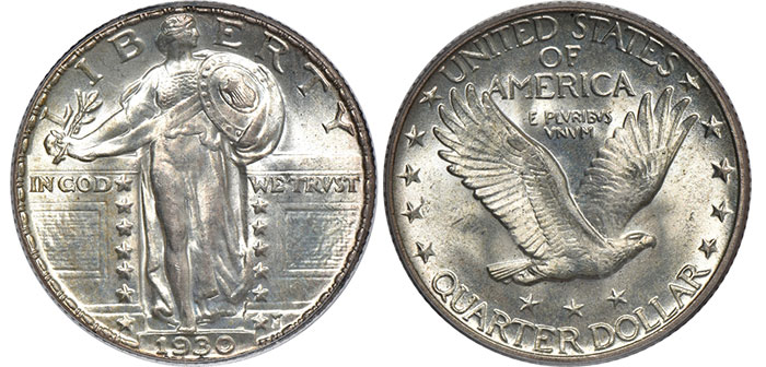 CAC Certified Coins: 1930 Standing Liberty Quarter in MS-66 FH