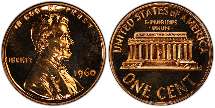 United States 1960 Lincoln Cent Overdate Varieties in Proof