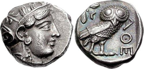 Athens.  AR Late Classical Tetradrachm.