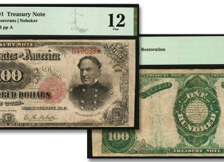 "Rare ""Open Back"" 1891 $100 Treasury Note in Stack's Bowers Galleries March 2021 Auction"