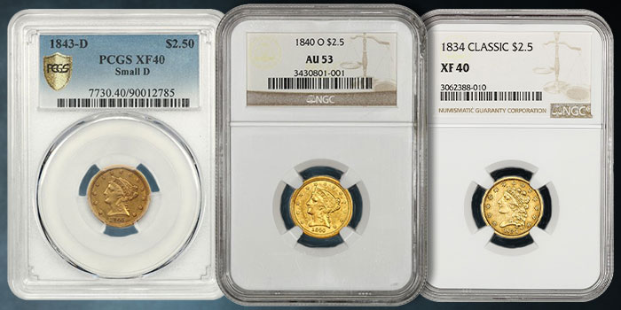 Quarter Eagle Gold Coins Highlight Latest David Lawrence Rare Coins Auction