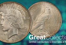 Tied for Finest 1935 Peace Dollar Offered by GreatCollections