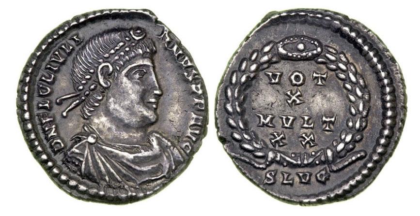 Julian II, 360-363 CE. AR Siliqua struck at Lugdunum
