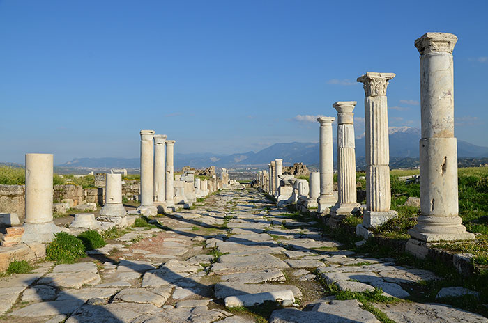 Figure 3. A colonnaded street in the Phrygian city of Laodicea ad Lycum.