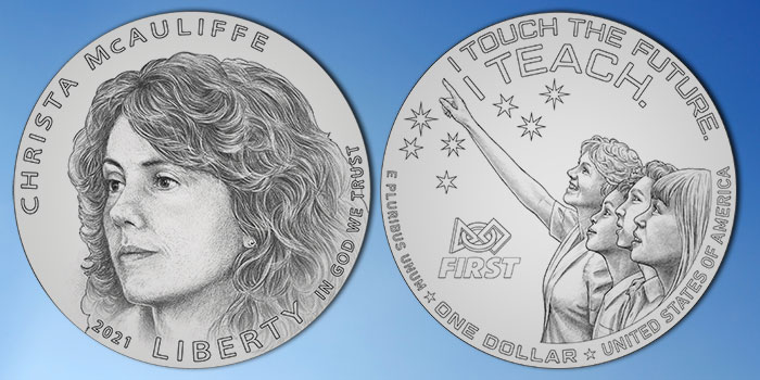 United States Mint Unveils Designs for Christa McAuliffe Commemorative Coin Program