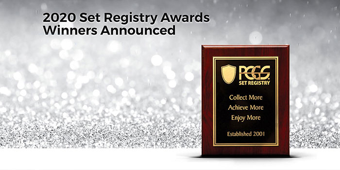 PCGS Set Registry 2020 Awards Recognize Famous Coin Collectors, Outstanding Coin Collections