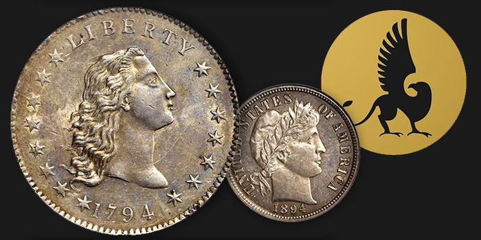 NGC 1894-S Barber Dime, 1794 Dollar Each Realize Over $1 Million in Stack's Bowers Sale