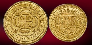 Heritage Offers Likely Finest Known Mexico 1714 Royal 8 Escudos