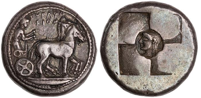 Sicily, Syracuse, c.510-500 BCE. Silver Tetradrachm.
