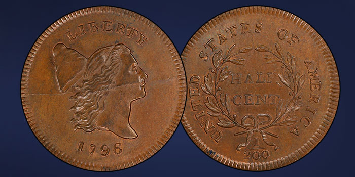 Heritage to Offer Finest Known 1796 No Pole Half Cent at FUN Auction