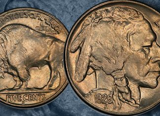 Recenty Discovered Key Date 1926-S Buffalo Nickel Offered by GreatCollections