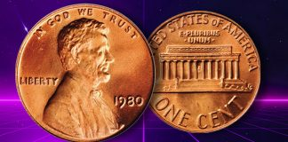 United States 1980 (P) Lincoln Cent