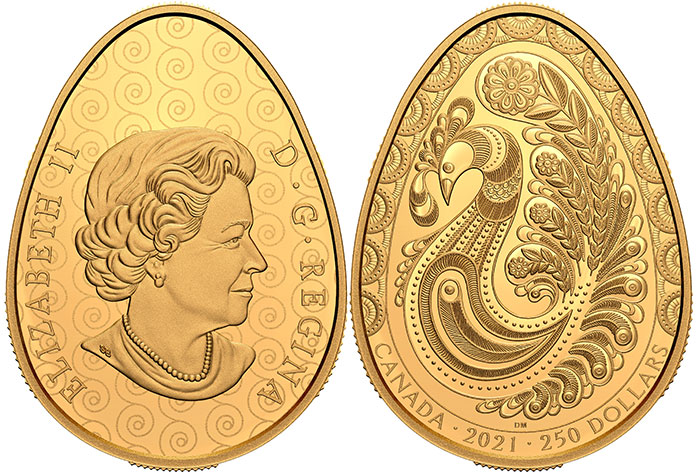 The 2021 $250 Pure Gold Pysanka Coin