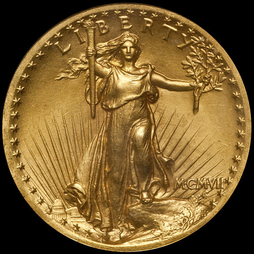 MCMVII+(1907)+High+Relief+St.+Gaudens+$20