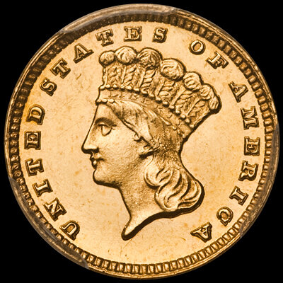 Proof Gold Dollar - Images courtesy Douglas Winter Numismatics (DWN)