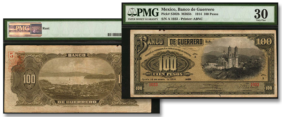 Only PMG-Certified Mexico P-S302b 1914 100 Pesos Banco de Guerro - Stack's Bowers Auction