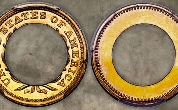 1852 Gold Half Dollar Annular Pattern Coin in Heritage Long Beach Signature Auction