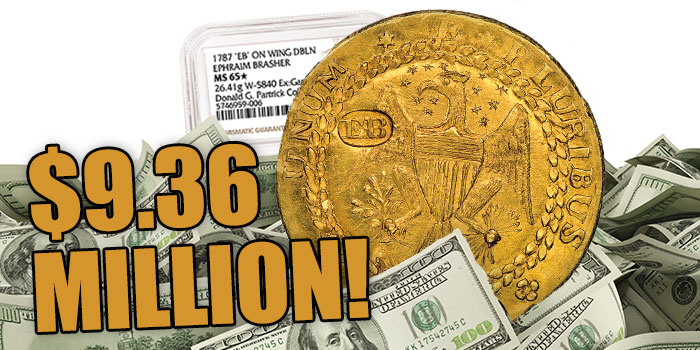 NGC-certified Brasher Doubloon Realizes a Record $9.36 Million at Partrick Sale
