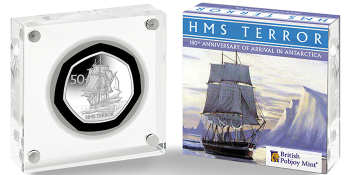 New 50 Pence Coin Commemorates Arrival of HMS Terror in Antarctica