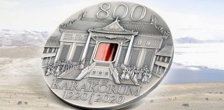 Karakorum: Tiffany Glass Adorns Coin Commemorating 800th Anniversary of the Great Mongol Capital - CIT Coin Invest Trust