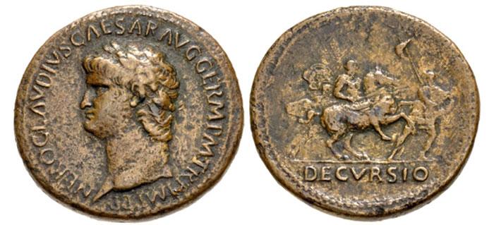 Nero. AD 54-68. Æ Sestertius (36mm, 27.87 g, 6h). Rome mint. Struck circa AD 63. Image: CNG.