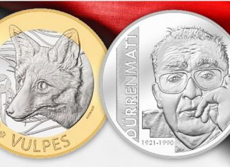 "Swiss Mint Issues Two New Commemorative Coins: ""Friedrich Dürrenmatt"" and ""Fox"""