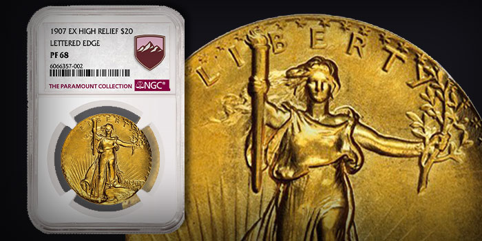 1907 Ultra High Relief $20 Realizes Astounding $3.6 Million in Paramount Collection Sale