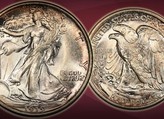 Condition Rarity 1919 Walking Liberty Half Dollar Offered by GreatCollections