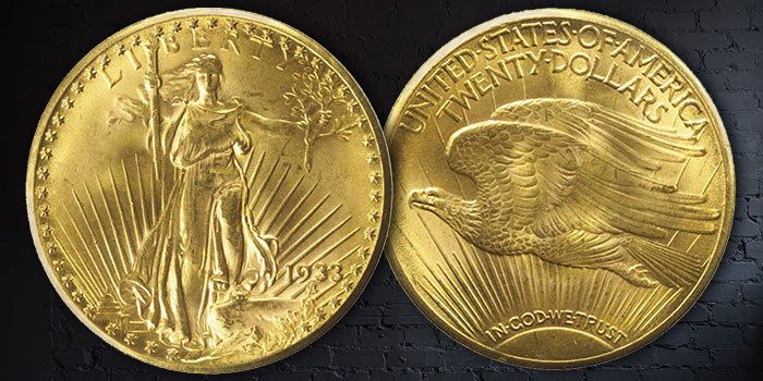 United States 1933 Double Eagle $20 Gold Coin