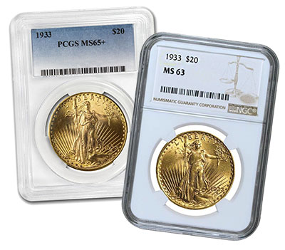 United States 1933 Double Eagle $20 Gold Coin 14