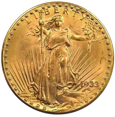 United States 1933 Double Eagle $20 Gold Coin 7