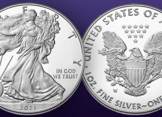 United States Mint 2021-W American Silver Eagles last to featureJohn Mercanti's Heraldic Eagle reverse