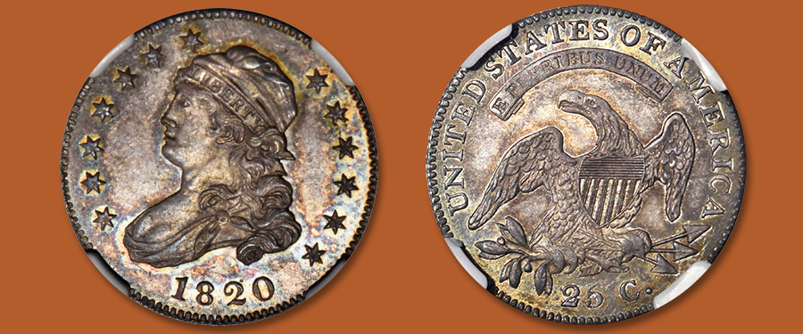 Gem 1820 Eliasberg Quarter Featured in Stack's Bowers March Las Vegas Auction