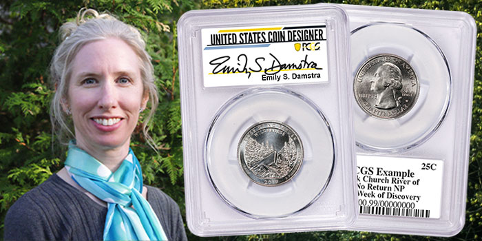 Coin Designer Emily Damstra Signs Exclusive PCGS Signature Labels for 2021 Silver Coins