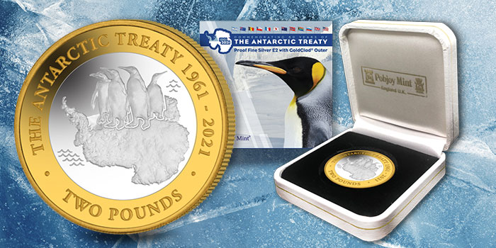 Antarctic Treaty 60th Anniversary Commemorated on New £2 Coin