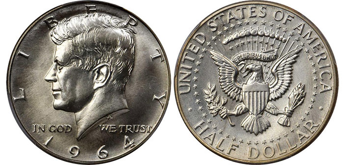 The 1964 Kennedy Half Dollar: History and Values