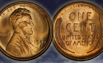 Top Pop 1909-S Lincoln Cent Repunched Mintmark Variety Offered by GreatCollections