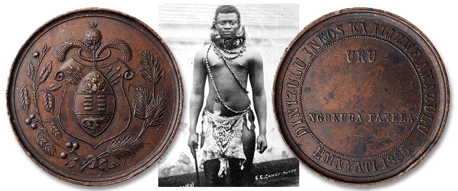 A Rare Award Medal Pertaining to Dinuzulu—the Final 19th-Century King of the Zulus offered by Stack's Bowers Galleries