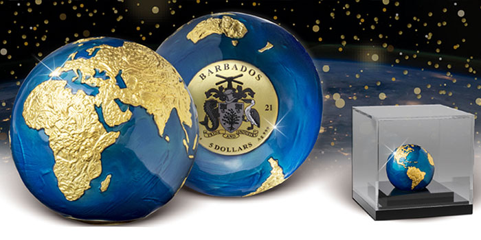 Limited Edition MDM Blue Marble Coin Attracts High Bids
