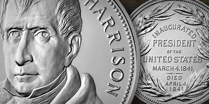William Henry Harrison Presidential Silver Medal Available May 3